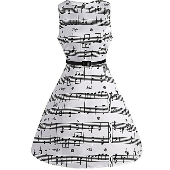 Dresses & Skirts - 💎Just In💎Fit & Flare Sheet Music Swing Dress